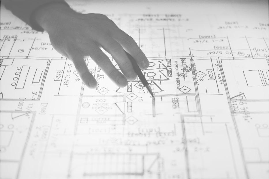 defective construction blueprint